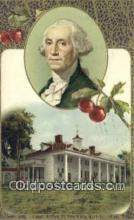 pol001116 - George Washington, 1st President USA, Political, Old Vintage Antique Postcard Post Card
