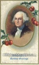 pol001120 - George Washington, 1st President USA, Political, Old Vintage Antique Postcard Post Card