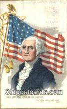 pol001131 - George Washington, 1st President USA, Political, Old Vintage Antique Postcard Post Card