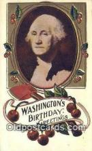 pol001150 - George Washington, 1st President USA, Political, Old Vintage Antique Postcard Post Card
