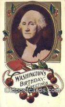 pol001150 - George Washington, 1st President USA, Political, Old Vintage Antique Postcard Post Card