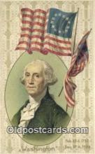 pol001151 - George Washington, 1st President USA, Political, Old Vintage Antique Postcard Post Card