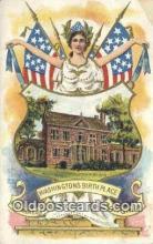 pol001154 - George Washington, 1st President USA, Political, Old Vintage Antique Postcard Post Card
