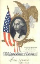 pol001157 - George Washington, 1st President USA, Political, Old Vintage Antique Postcard Post Card