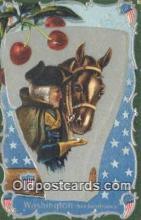 pol001166 - George Washington, 1st President USA, Political, Old Vintage Antique Postcard Post Card