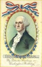 pol001177 - Artist Clapsaddle, George Washington, 1st President USA, Political, Old Vintage Antique Postcard Post Card