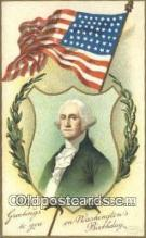 pol001179 - Artist Clapsaddle, George Washington, 1st President USA, Political, Old Vintage Antique Postcard Post Card