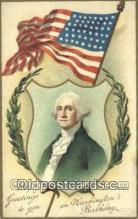pol001181 - Artist Clapsaddle, George Washington, 1st President USA, Political, Old Vintage Antique Postcard Post Card