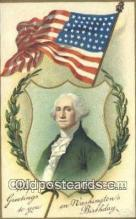pol001194 - Artist Clapsaddle, George Washington, 1st President USA, Political, Old Vintage Antique Postcard Post Card