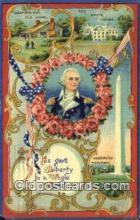 pol001202 - George Washington, 1st President USA, Political, Old Vintage Antique Postcard Post Card