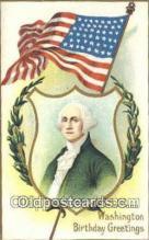 pol001207 - George Washington, 1st President USA, Political, Old Vintage Antique Postcard Post Card
