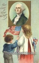 pol001209 - Artist Clapsaddle, George Washington, 1st President USA, Political, Old Vintage Antique Postcard Post Card