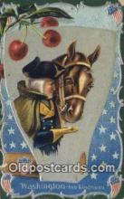 pol001217 - George Washington, 1st President USA, Political, Old Vintage Antique Postcard Post Card
