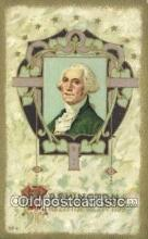 pol001218 - George Washington, 1st President USA, Political, Old Vintage Antique Postcard Post Card