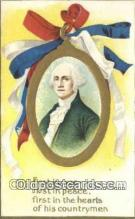 pol001222 - Artist Clapsaddle, George Washington, 1st President USA, Political, Old Vintage Antique Postcard Post Card