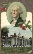 pol001226 - George Washington, 1st President USA, Political, Old Vintage Antique Postcard Post Card