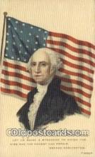 pol001228 - George Washington, 1st President USA, Political, Old Vintage Antique Postcard Post Card