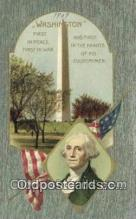 pol001230 - George Washington, 1st President USA, Political, Old Vintage Antique Postcard Post Card