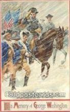 pol001238 - Artist Veenfliet, George Washington, 1st President USA, Political, Old Vintage Antique Postcard Post Card