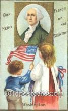 pol001239 - George Washington, 1st President USA, Political, Old Vintage Antique Postcard Post Card
