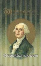 pol001246 - George Washington, 1st President USA, Political, Old Vintage Antique Postcard Post Card