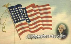 pol001266 - George Washington, 1st President USA, Political, Old Vintage Antique Postcard Post Card