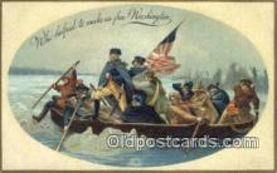 pol001279 - George Washington, 1st President USA, Political, Old Vintage Antique Postcard Post Card