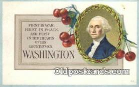 pol001283 - George Washington, 1st President USA, Political, Old Vintage Antique Postcard Post Card