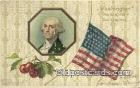 pol001284 - George Washington, 1st President USA, Political, Old Vintage Antique Postcard Post Card