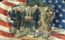 pol001285 - George Washington, 1st President USA, Political, Old Vintage Antique Postcard Post Card