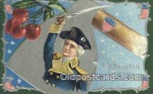 pol001289 - George Washington, 1st President USA, Political, Old Vintage Antique Postcard Post Card