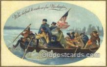 pol001302 - George Washington, 1st President USA, Political, Old Vintage Antique Postcard Post Card