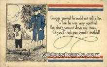 pol001306 - George Washington, 1st President USA, Political, Old Vintage Antique Postcard Post Card