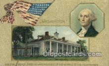 pol001323 - George Washington, 1st President USA, Political, Old Vintage Antique Postcard Post Card