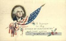 pol001332 - George Washington, 1st President USA, Political, Old Vintage Antique Postcard Post Card