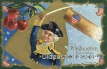 pol001335 - George Washington, 1st President USA, Political, Old Vintage Antique Postcard Post Card