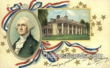 pol001338 - George Washington, 1st President USA, Political, Old Vintage Antique Postcard Post Card