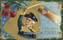 pol001340 - George Washington, 1st President USA, Political, Old Vintage Antique Postcard Post Card