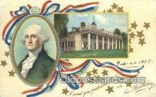 pol001341 - Artist Clapsaddle, George Washington, 1st President USA, Political, Old Vintage Antique Postcard Post Card