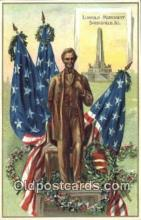 pol016044 - Abe Lincoln 16th USA President Postcard Postcards