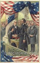 pol016047 - Inauguration Abe Lincoln 16th USA President Postcard Postcards