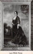 Lucy Webb Hayes, Portait hangs in White House.