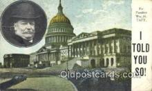 pol027039 - William Taft 27th USA President Postcard Postcards