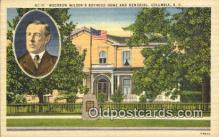 pol028020 - Columbia, S.C., Usa Woodrow Wilson 28th USA President Postcard Postcards