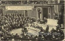 pol028021 - Addressing Congress Woodrow Wilson 28th USA President Postcard Postcards