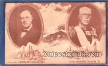 pol032001 - Honoring Swedish-American Relations Franklin D Roosevelt 32nd USA President Postcard Postcards