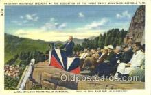 pol032004 - The Dedication, The Great smoky Mountain National Park Franklin D Roosevelt 32nd USA President Postcard Postcards