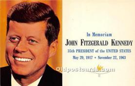 pol035415 - John F Kennedy Postcard