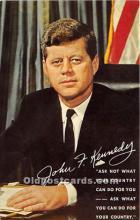 pol035433 - John F Kennedy Postcard