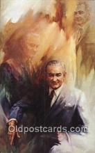 pol036005 - Bob Cunningham Lyndon B. Johnson President Postcard Postcards